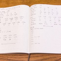 Notebook with pages of Climbing Notes