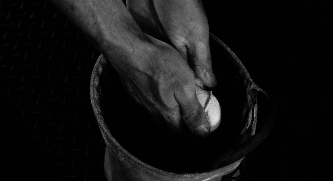 Hands in Chalk b&w, Photo by Mei Ratz