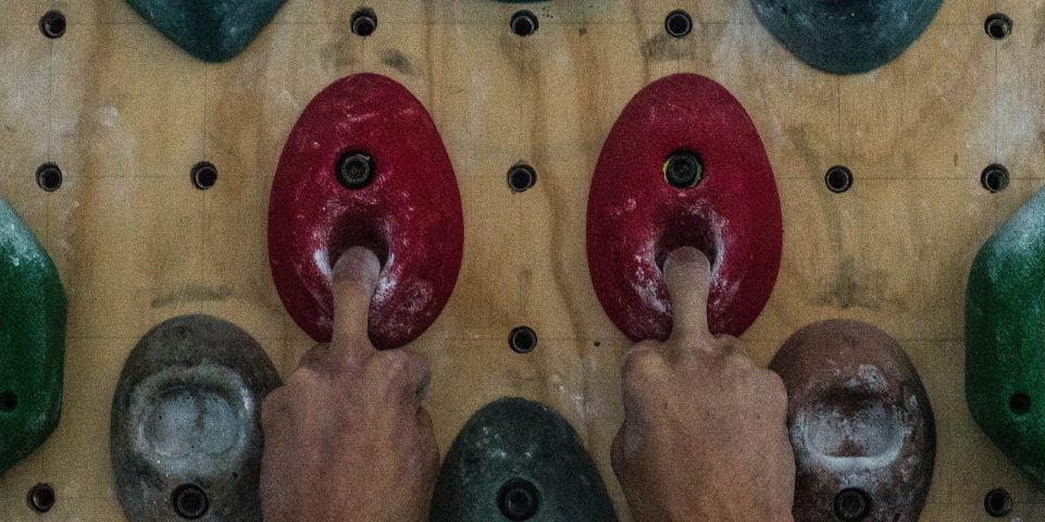 Hangboard mono hangs