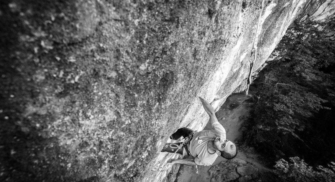 Math Leading Sport Climbing B&W